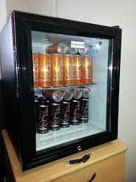 glass door mini bar fridge