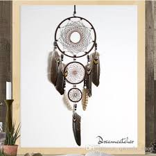 Eagle Feather Dream Catcher Gorgeous 32cm Large Dreamcatcher With 32 Circles Feather Eagle Wall Hanging
