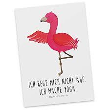 Mr Mrs Panda Grußkarte Sprüche Postkarte Flamingo Yoga Mit Spruch Farbe Weiß