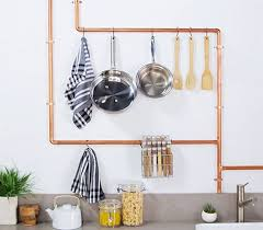 DIY Copper Kitchen Rack