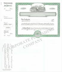 Selling A Share Certificate Corporate Publishing Goes 1755 Green Global Vignette Share Text