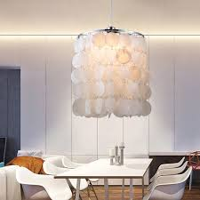 Image Diy Capiz Diy Modern White Natural Seashell Pendant Lamps E14 Led Shell Lighting For Dining Room Living Room Kitchen Bedroom Home Fixture Aliexpresscom Diy Modern White Natural Seashell Pendant Lamps E14 Led Shell
