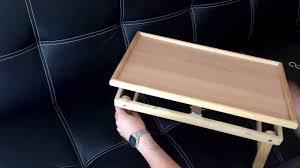 Tavolino notebook vassoio in legno per pc tavolo pieghevole letto