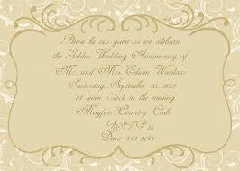 50th Wedding Anniversary Invitation Cards Free Wedding