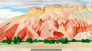 o keeffe painted several pictures at her other home ghost ranch including my backyard credit 2016 georgia o keeffe museum dacs london