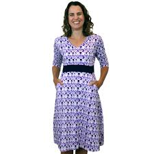 Fit And Flare Dress Pattern Awesome Sound Waves Pattern Fit Flare Dress Svaha Apparel