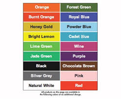 Poly Filter Color Chart Can Tainer Can Recycling Container