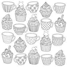 Amazing cupcake for kids shopkins season 5 coloring pages printable and coloring book to print for free. Áˆ Cupcakes For Coloring Stock Images Royalty Free Cupcakes Coloring Pages Vectors Download On Depositphotos