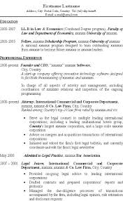 Good resume for LLB, LLM, JD applicant