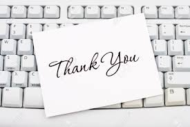 Electronic Thank You Card Free A Thank You Card Sitting On A Computer Keyboard Online Thank