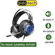 Tai Nghe Chụp Tai Gaming SIDOTECH G2 Có Mic Âm Thanh 7.1 Chuyên Game - Hàng  Chính Hãng