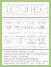 Flour To Coconut Flour Conversion Chart Coconut Flour Conversion Chart Our Organics Gluten Free