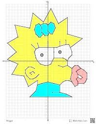 Graph Paper Art Worksheets Printable Fun Coordinate Graphing