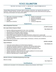 Biomedical Repair Sample Resume Best Medical Equipment Technician Resume Example LiveCareer 1