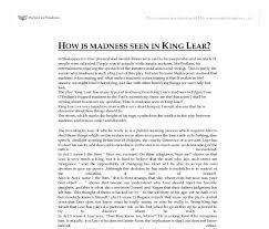 king lear madness essay apartheid essay king lear madness essay