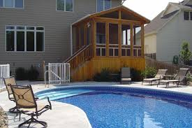 patio with pool simple. Simple With Simple And Neat Home Exterior Decoration Using Inground Pool Decks   Cool Backyard Landscaping Inside Patio With