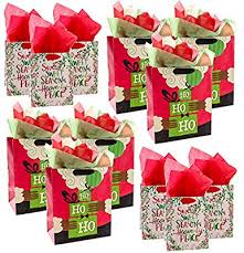 hallmark 12 pack bags orted sizes s tissue for gifts large small black santa
