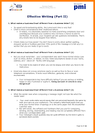 8 Business Writing Sample Students Resume