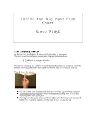 Inside The Big Band Drum Chart Inside The Big Band Drum Chart Steve Fidyk