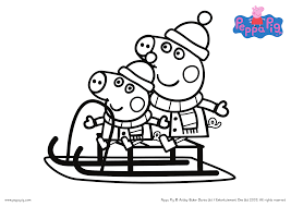 Peppa pig mother coloring page. Christmas With Peppa Pig Free Printable Coloring Sheets More Nanny To Mommy
