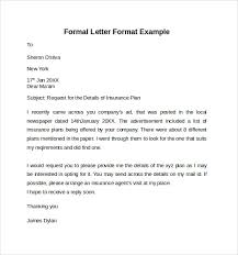 Bunch Ideas of Sample Formal Letter Format About Free