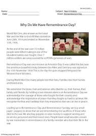 history printable resource worksheets for kids why do we have remembrance day