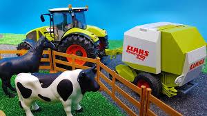 bruder toys balewrapper tractors video for kids