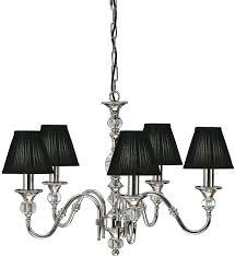 black 5 light chandelier chrome 5 light crystal