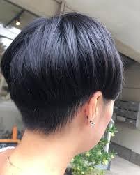 刈り上げ女子 刈り上げマッシュ キノコヘアー 今まで前髪なしの