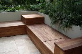 patio bench seating ideas planter
