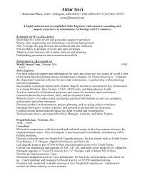 Pre Sales Engineer Sample Resume - Free Letter Templates Online ...