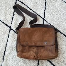 wilsons leather messenger bag vintage suede