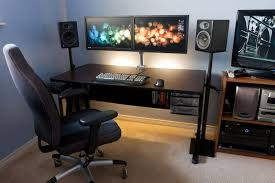 alluring dual monitor computer desk with clean desk stand and plans for your home improvement