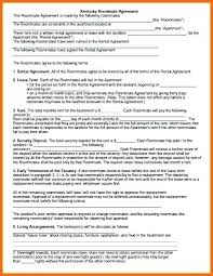 House Rules For Roommates Template Roommate Agreement Template New Living Agreement Contract