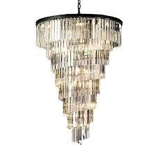 odeon crystal chandelier helix crystal chandelier odeon crystal fringe 5 tier chandelier lighting