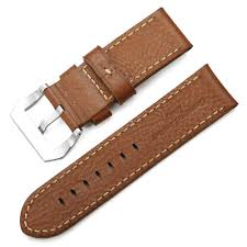 hua si hai istrap 26mm calfskin leather watch band thick full grain replacement strap