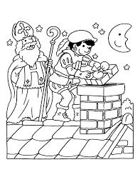 Kleurplaten Van Sint En Piet Printen Kleurplaat Van Sinterklaas En