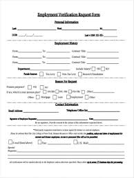Form Employment Verification Forms Word Pdf Employee For On ...