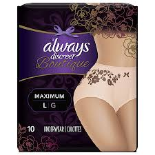 Always Discreet Boutique Incontinence Underwear For Women Maximum Protection L Peach