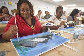 more than 250 patrons attended a recent paint along with bob ross event