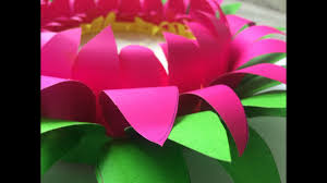 How To Make A Lotus Flower Out Of Paper How To Make Lotus Out Of Thick Chart Paper Diy Easy Simple