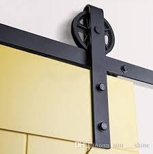 black heavy bearing steel double slide barn jpg