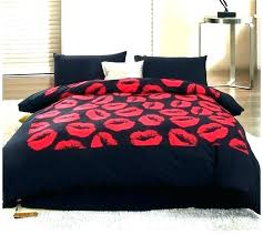red king size bedding black comforter sets designer bed kiss red and bedding set twin queen