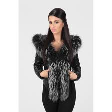 women s black real leather jacket with fur