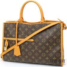 kaitorikomachi louis vuitton m43436 ポパンクール mm monogram saffron grain calf 2way shoulder bag tote bag leather lv popincourt mm monogram safran