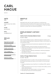 Janitor Resume Sample Janitor Resume Sample Template Example CV Formal Design 32