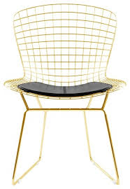 chair gold. gold wire side chair, black contemporary-dining-chairs chair