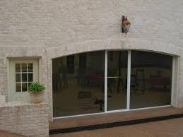 clear view retractable garage door screen