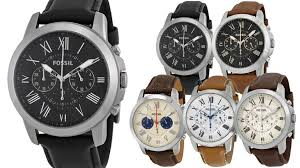 fossil grant chronograph leather mens watch multiple colors fossil grant chronograph leather mens watch