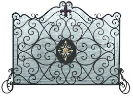 fireplace screen home depot fireplace screens burnished gold iron single panel with fire screen mesh home fireplace screen